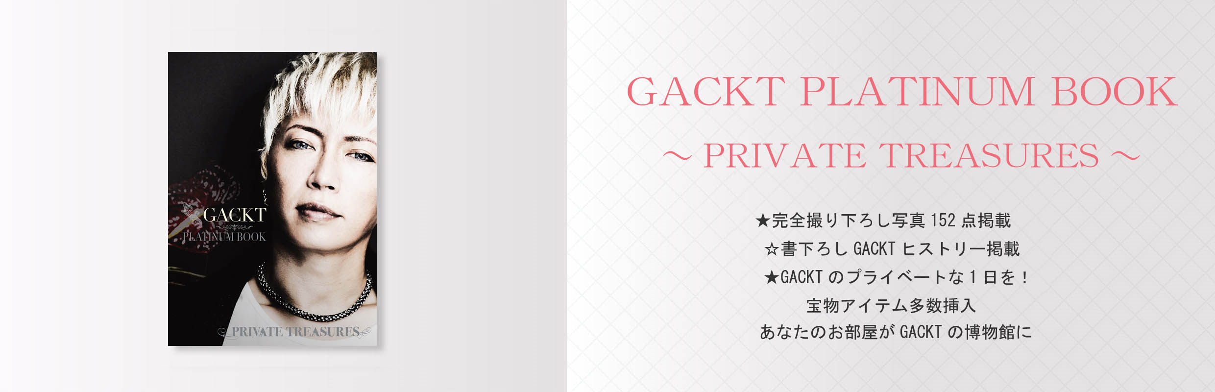 GACKT PLATINUM BOOK ~Private Treasures~ ガクト・プラチナムブック